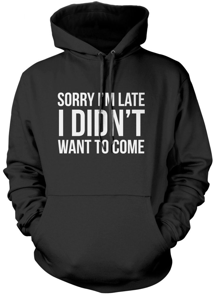 Sorry im late I didnt want to come hoodie ebgRD