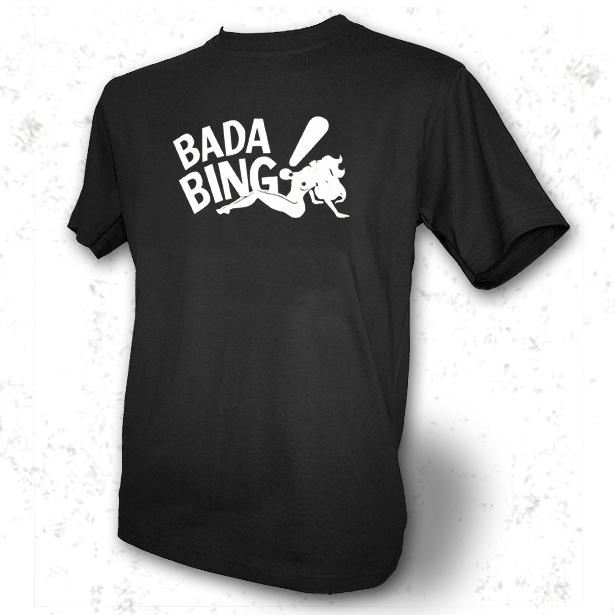 Details about bada bing mens black t shirt sopranos tony soprano wow
