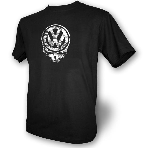 Vw Skull Mens Black T Shirt Beetle Camper Volkswagon Ebay